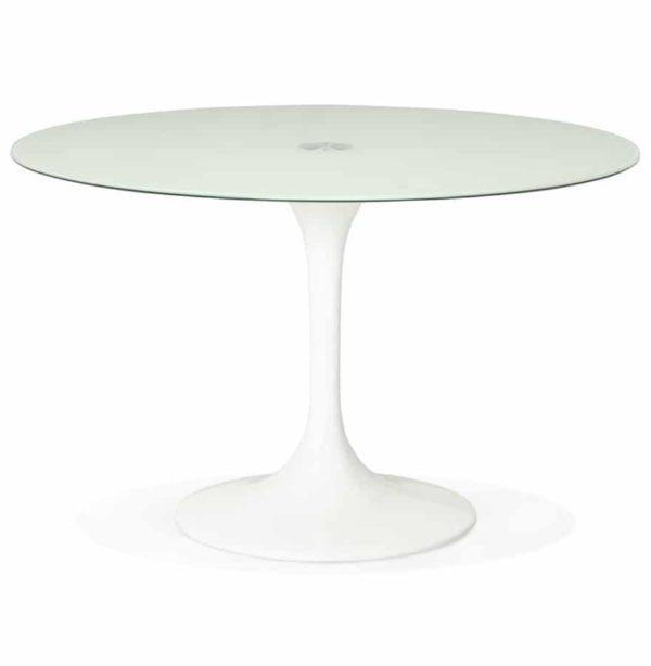Table-à-dîner-design-ronde-´ALEXIA´-blanche-Ø-120-cm-1