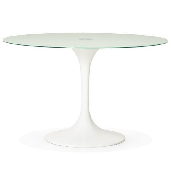 Table à dîner design ronde ´ALEXIA´ blanche – Ø 120 cm