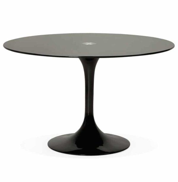 Table-à-dîner-design-ronde-´ALEXIA´-noire-Ø-120-cm-1