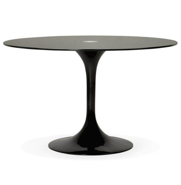 Table à dîner design ronde ´ALEXIA´ noire – Ø 120 cm