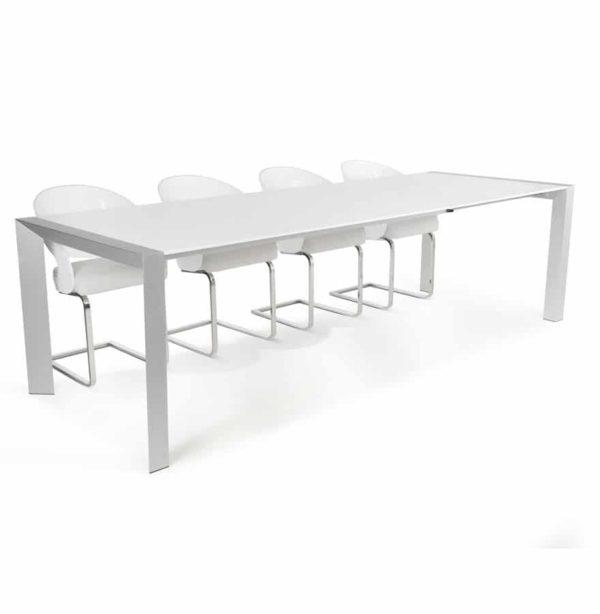 Table à dîner extensible ´TITAN´ design blanche - 190(270)x95 cm