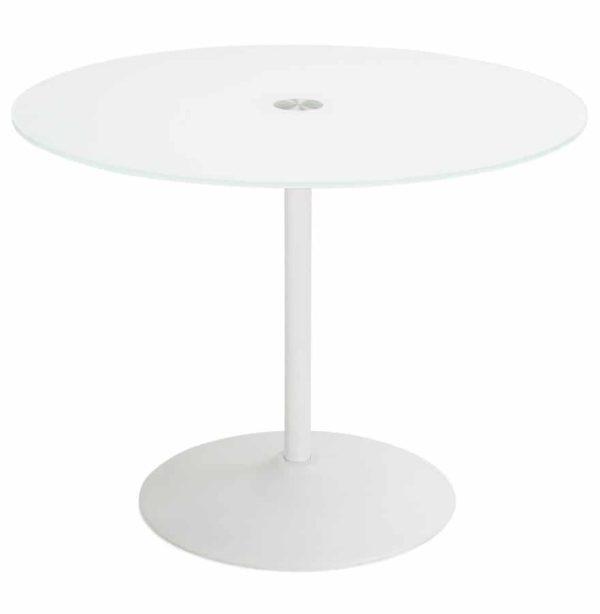 Table-à-dîner-ronde-´TROBO´-blanche-en-verre-Ø-100-cm-1