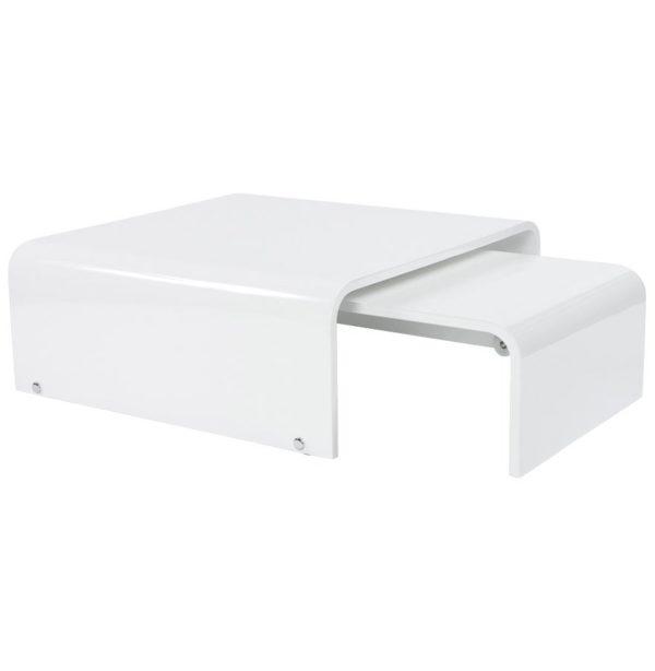Table basse de salon extensible ´TWIST´ design blanche