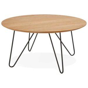 Table basse design ´PLUTO´ en bois finition naturelle 300x300 - Décoration pas chère et moderne
