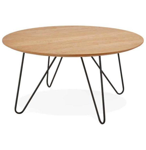 Table basse design ´PLUTO´ en bois finition naturelle