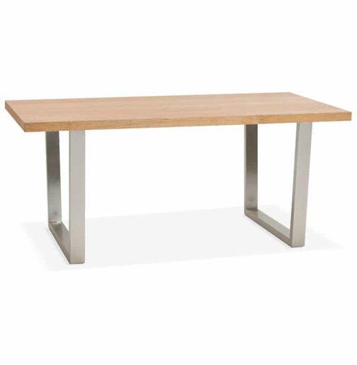 Table / bureau design ´KOALA´ en bois finition naturelle - 180x90 cm
