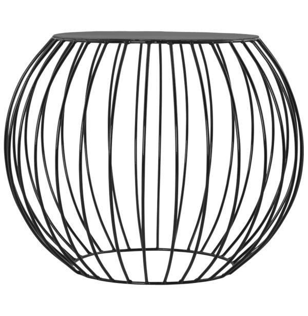 Table-d´appoint-´BOULI´-en-métal-peint-noir-1