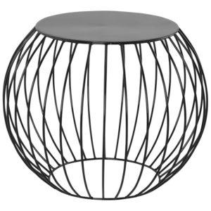 Table d´appoint ´BOULI´ en métal peint noir 300x300 - Table d´appoint ´BOULI´ en métal peint noir