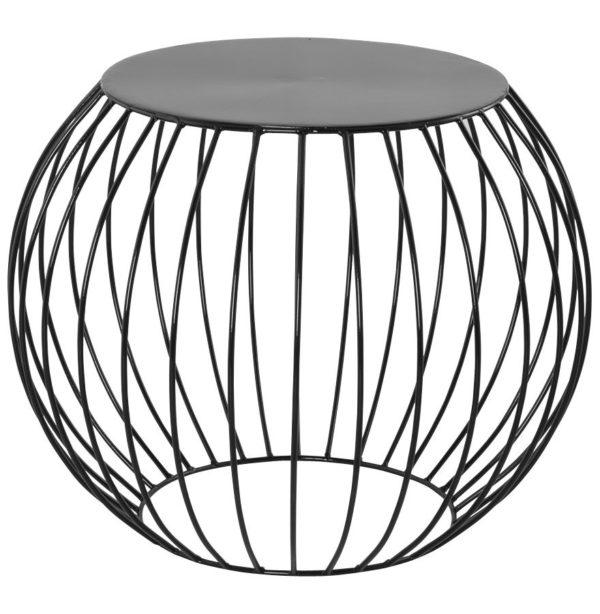Table d´appoint ´BOULI´ en métal peint noir