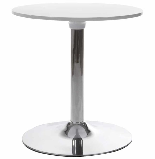 Table d´appoint ´SATURN´ blanche design pour coin bar lounge