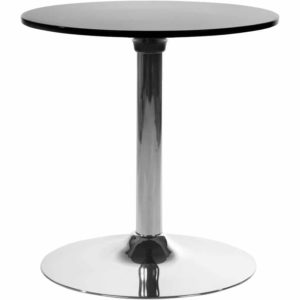 Table d´appoint ´SATURN´ noire design pour coin bar lounge