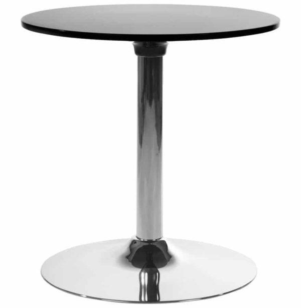 Table d´appoint ´SATURN´ noire design pour coin bar lounge