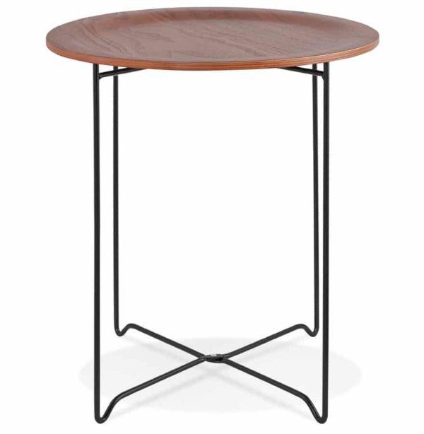 Table-d´appoint-design-´TSUNAMI´-noire-style-industriel-1