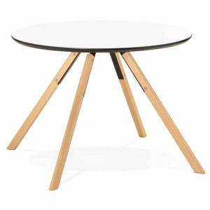 Table de cuisine ronde ´BALKAN´ blanche style scandinave Ø 100 cm 300x300 - Table de cuisine ronde ´BALKAN´ blanche style scandinave - Ø 100 cm