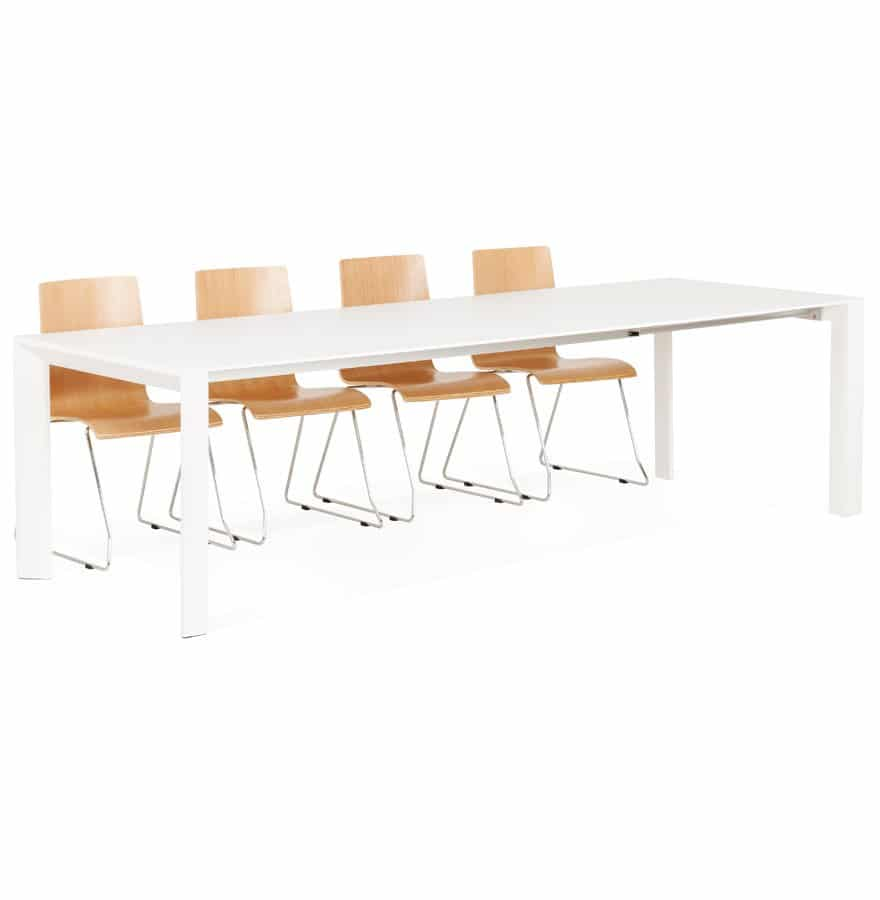 Table design extensible ´MAMAT´ blanche mate – 190(270)x95 cm