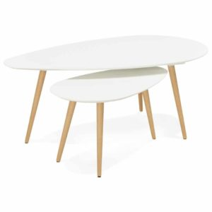 Tables gigognes design ´TETRYS´ blanches 300x300 - Tables gigognes design ´TETRYS´ blanches