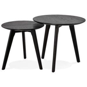 Tables gigognes ronde ´GABY´ noires 300x300 - Mobilier Design et Scandinave