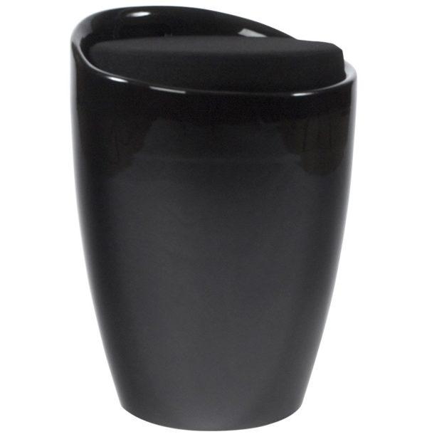 Tabouret coffre d´appoint ´GUM´ noir