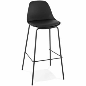 Tabouret de bar ´COOKIE´ noir style industriel