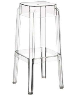 Tabouret de bar ´LENO´ transparent en matière plastique