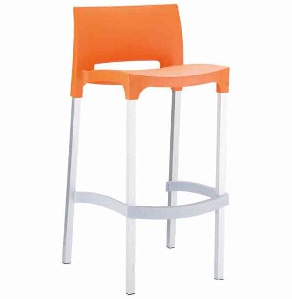 Tabouret-de-bar-´MATY´-orange-empilable-extérieur-et-intérieur-1