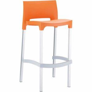 Tabouret de bar ´MATY´ orange empilable extérieur et intérieur 300x300 - Tabouret de bar ´MATY´ orange empilable extérieur et intérieur