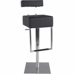 Tabouret de bar ´SPOON´ avec haut dossier en matière synthétique noire 300x300 - Tabouret de bar ´SPOON´ avec haut dossier en matière synthétique noire