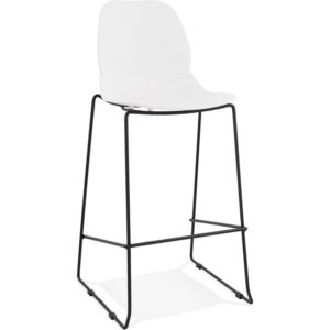 Tabouret de bar design ´BERLIN´ blanc empilable style industriel