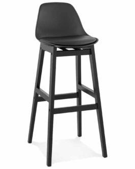 Tabouret de bar design ´CLIO´ noir