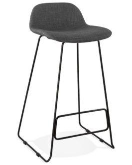 Tabouret de bar design ´MOSKOW´ noir style industriel avec pieds en métal noir