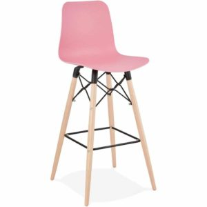 Tabouret de bar design ´MOZAIK´ rose style scandinave