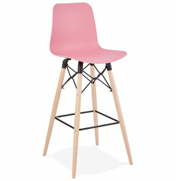 Tabouret de bar design ´MOZAIK´ rose style scandinave