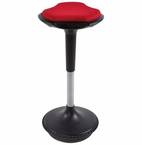 Tabouret ergonomique ´SWING´ rouge avec système de balancement