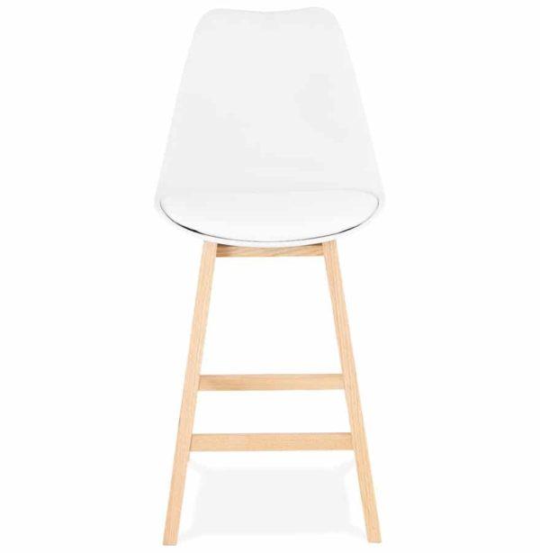 tabouret snack mi hauteur camila mini blanc style. Black Bedroom Furniture Sets. Home Design Ideas