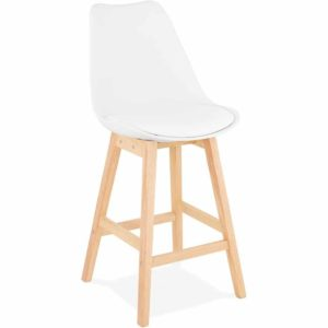 Tabouret snack mi hauteur ´CAMILA MINI´ blanc style scandinave 300x300 - Mobilier Design et Scandinave