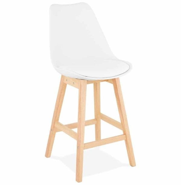 tabouret snack mi hauteur camila mini blanc style scandinave addesign. Black Bedroom Furniture Sets. Home Design Ideas