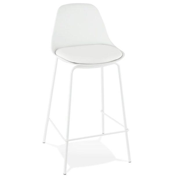 Tabouret snack mi-hauteur ´COOKIE MINI´ blanc style industriel