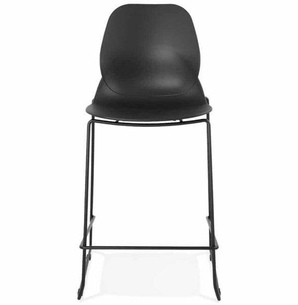 tabouret snack mi hauteur berlin mini noir empilable moderne addesign. Black Bedroom Furniture Sets. Home Design Ideas