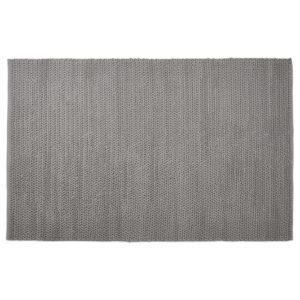 Tapis design ´COVER´ 160x230 cm gris en coton 300x300 - Tapis design ´COVER´ 160x230 cm gris en coton