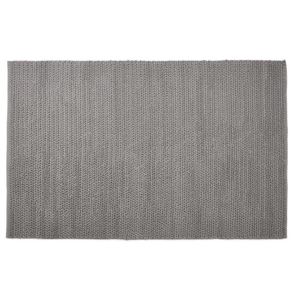 Tapis design ´COVER´ 160x230 cm gris en coton