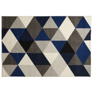 Tapis design ´GRAFIK´ 160230 cm avec motifs graphiques bleus 300x300 - Décoration pas chère et moderne