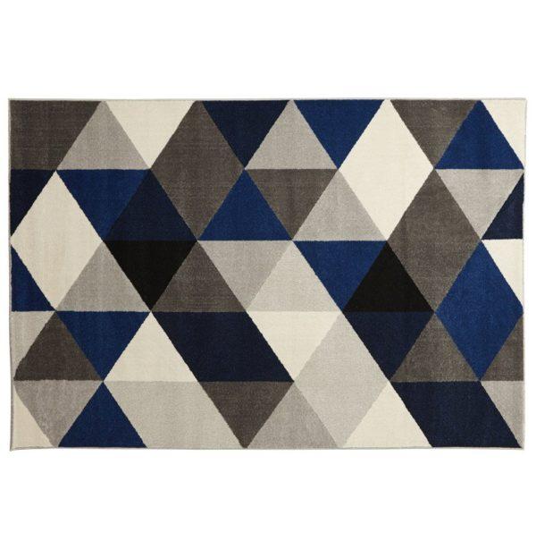 Tapis design ´GRAFIK´ 160/230 cm avec motifs graphiques bleus