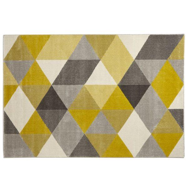 Tapis design ´GRAFIK´ 160/230 cm avec motifs graphiques jaunes