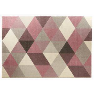 Tapis design ´GRAFIK´ 160/230 cm avec motifs graphiques roses