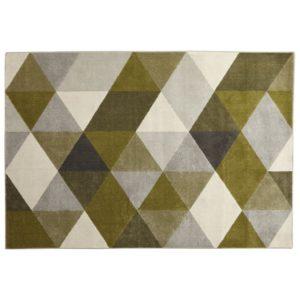 Tapis design ´GRAFIK´ 160/230 cm avec motifs graphiques verts