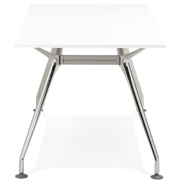 Bureau-droit-moderne-´STATION´-avec-plateau-en-bois-blanc-160×80-cm-2