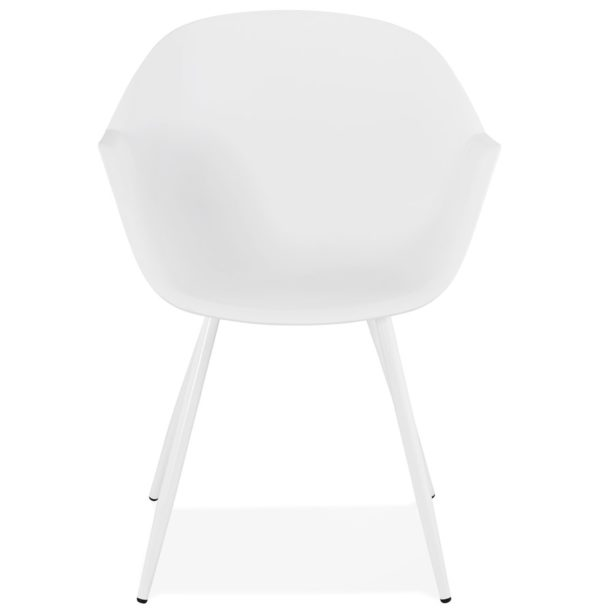Chaise-à-accoudoirs-´KELLY´-blanche-design-1