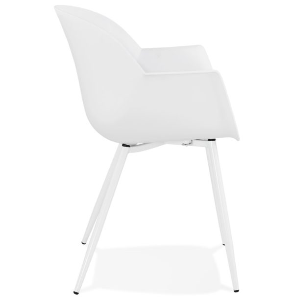Chaise-à-accoudoirs-´KELLY´-blanche-design-2