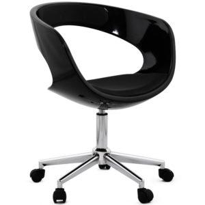 Chaise de bureau ´STRATO´ noire sur roulettes