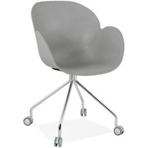Chaise de bureau design ´JEFF´ grise sur roulettes 300x300 - Chaise de bureau design ´JEFF´ grise sur roulettes